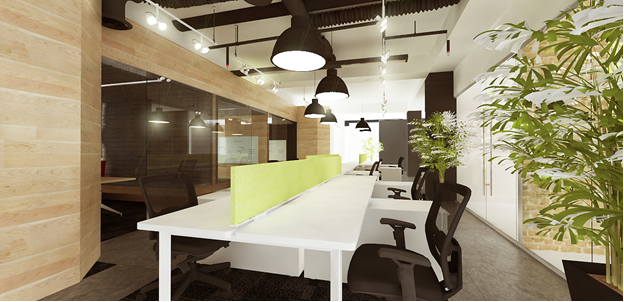Ellcad: Natural Lightning on a Biophilic Office Fit Out Design